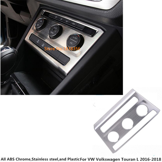For VW Volkswagen Touran L 2016 2017 2018 2019 Car Console Temperature Air-Condition Panel Volume Navigation Switch Trim Frame