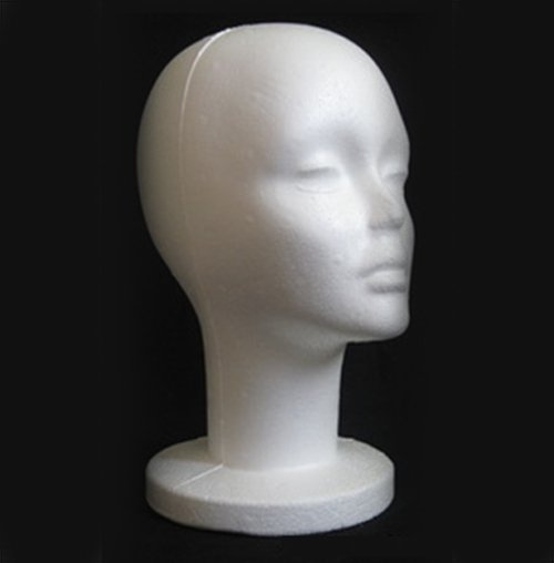Female Styrofoam Foam Manikin Mannequins Model hair Glasses Hat head mould