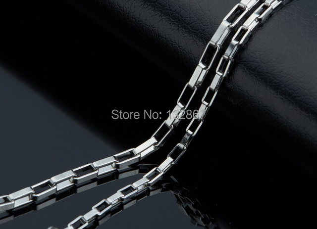 18''-28'' in bulk 10pcs 2.5mm Stainless Steel Fashion Long Box Link Chain Necklace For Men Women Gifts