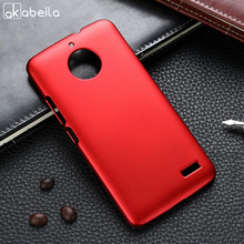 AKABEILA Case For Moto E4 Case Hard Plastic Matte Black Cases Coque For Motorola Moto E4 Cover Etui E 4th Gen European Version