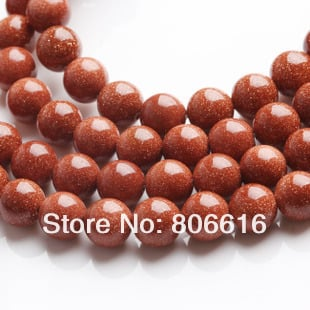8mm 96pcs Natural Stone Round Aventurine GOLDSTONE Loose Strands Jewelry Semi-precious
