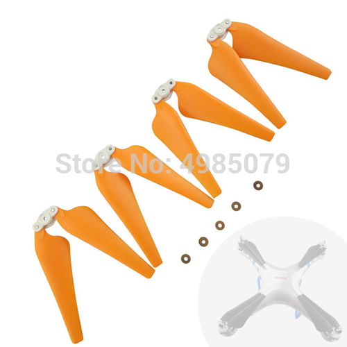4PCS Foldable Propeller for SYMA X8C X8W X8G X8HC X8HW X8HG Upgrade Propeller Blade RC Drone Quadcopter Spare Part Orange Color