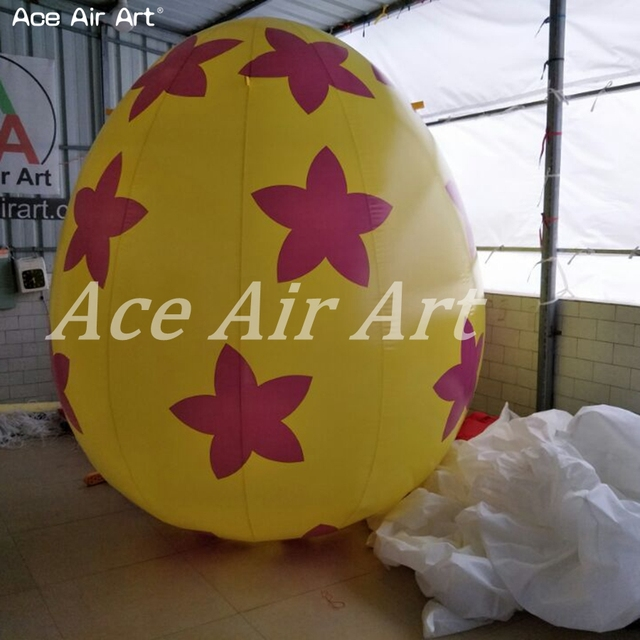 Attractive giant inflatable Egg model,colorful pop inflatable Easter egg replica for Easter day decoration
