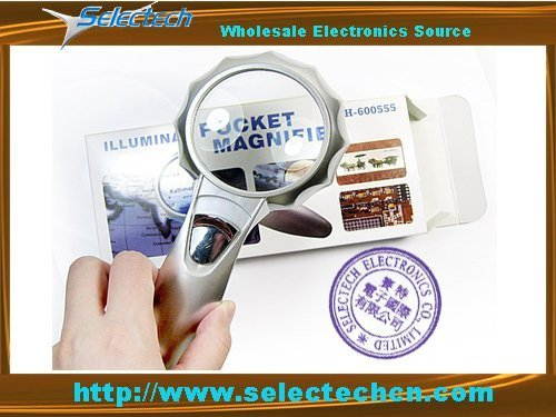 Most Popular Portable 6 LED Illuminated Magnifier Lamp Loupe SE-TH-600555