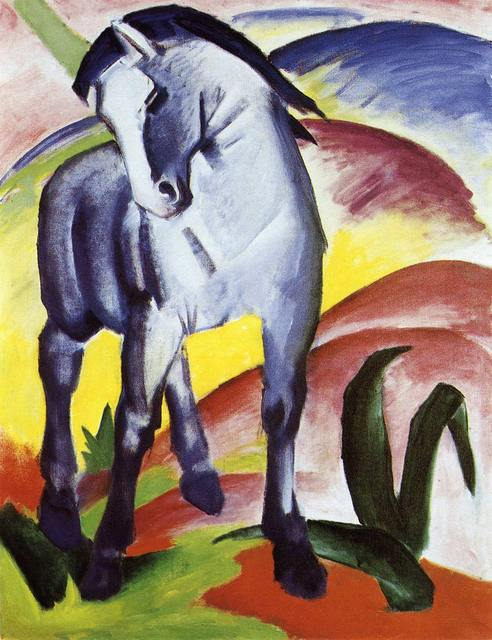 Blue Horse by Franz Marc oil Painting Canvas High quality hand painted abstract modern art for room decor