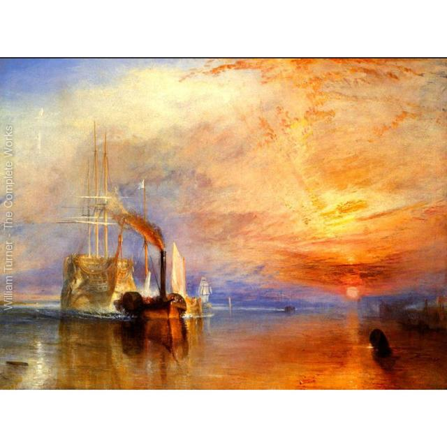Wall art Boats oil paintings The fighting Temeraire tugged to her last berth to be broken up William Turner Landscapes Handmade