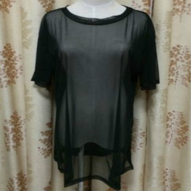 Women Blouse Sexy BlackThrough Mesh Short Sleeve Cool Oversize Cover Tops Blouse