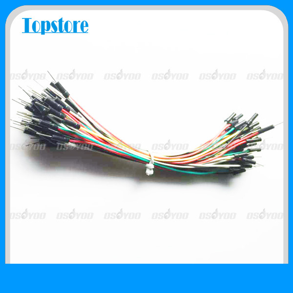 40pcs Jumper Wire Cable Male to Male Jumper Wire for  Arduino  Breadboard Free Shipping & Drop Shipping