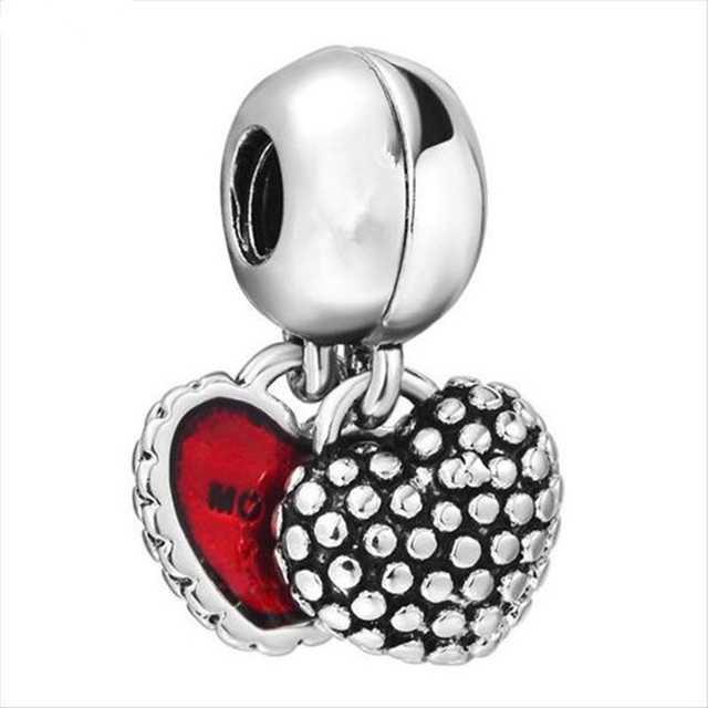 New Free Shipping 1Pcs Silver Bead Charm European Silver With Mother And Son Charm Love Pendant Bead Fit Pandora Bracelet
