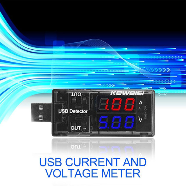Portable USB Power Detector Tester 0A-5A USB Voltage Current Meter Factories Universal USB Charger Doctor Laboratory