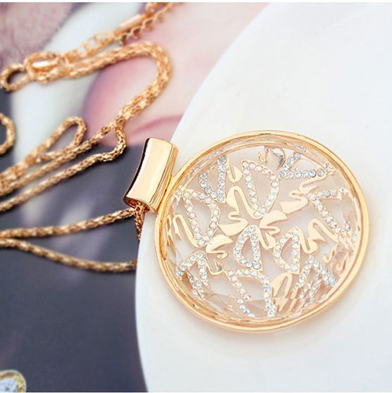 Simple necklaces for women lady's long necklaces dubai gold collier femme topshop jewelry collares