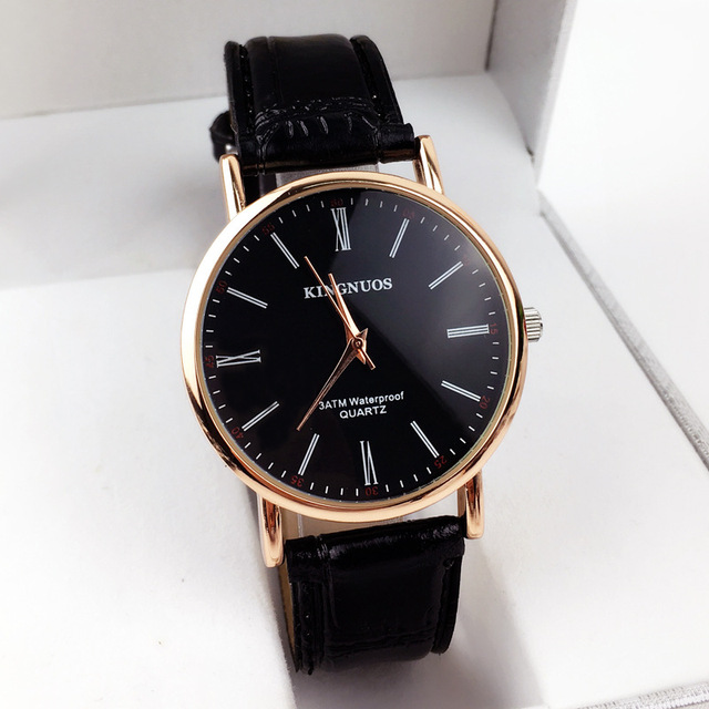 2018 Luxury Rose Gold Watches Men Fashion Leather Rome Digital Student Watches Casual Quartz Waterproof Wristwatch Reloj Hombre