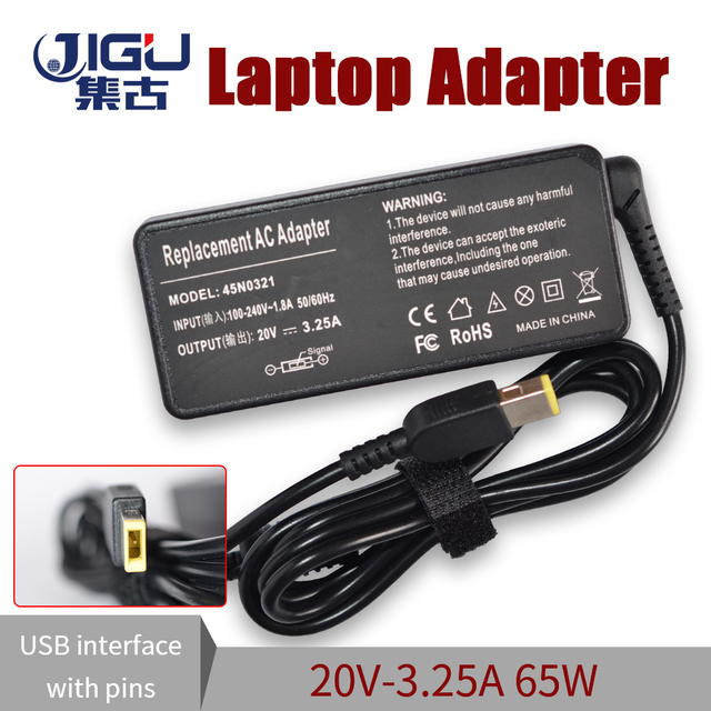 20V 3.25A 65W Replacement For Lenovo ThinkPad X1 Carbon Power Supply Square Interface E431 E531 G500 AC Adapter Power Charger