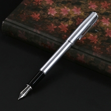 Hero 5020 Silver Stainless steel Fountain Pen With Standard M Nib Gift