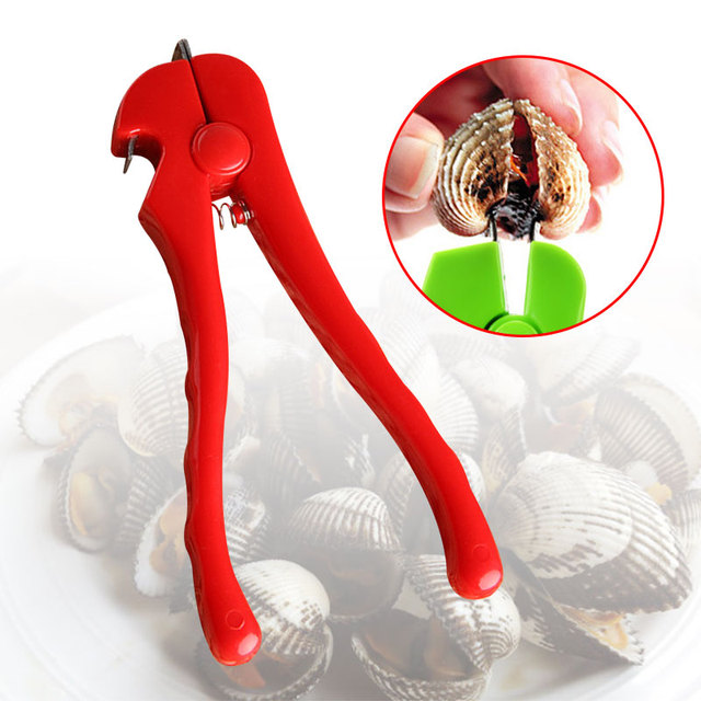 Clams Opener Pliers Opener Portable Clams Pincers 2 Colors Kitchen Sea Food Clip Practical