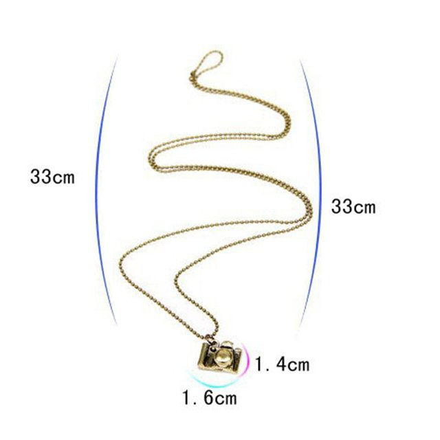 Fashion Small Camera Pendant Necklace Long Design Wholesale Sweater Necklace N3 N163