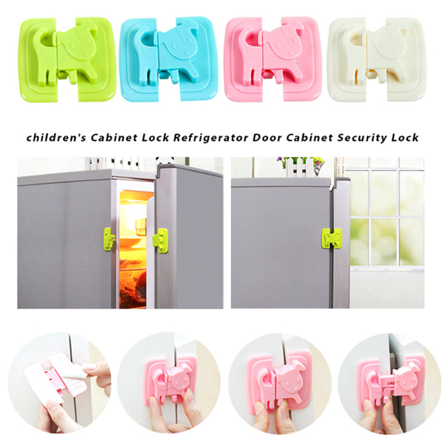 Refrigerator Lock Baby Safety Lock Cabinet Safety Lock 4 Colors Cupboard Cabinets Home Multi-Functional Wardrobe Infant Kids