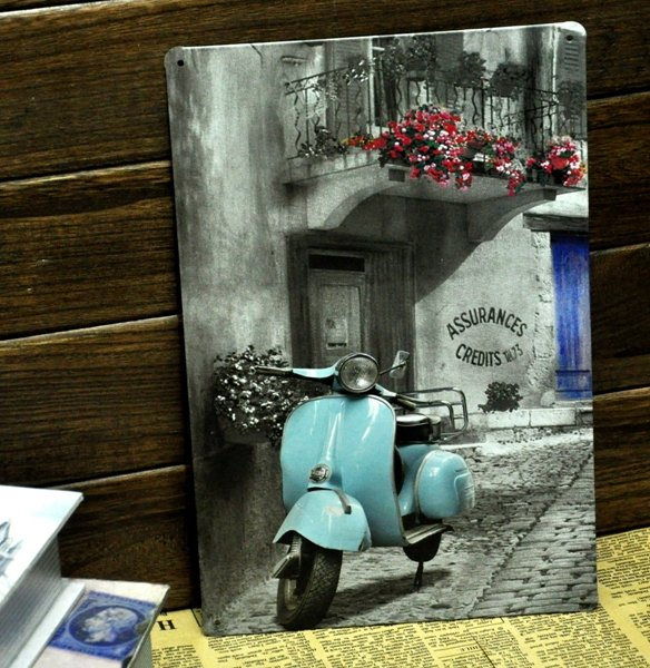 [ Mike86 ] Vintage Blue motorcylce Metal signs wall decor Office Bar Metal Painting art  B-138 Mix order 20*30 CM