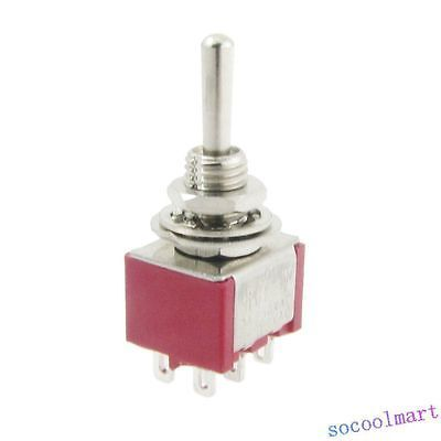 6 Pcs AC 250V 2A 120V 5A Momentary ON/OFF/ON 3 Position DPDT Toggle Switch