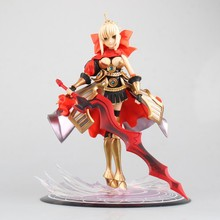 Action figure Fate stay night Red Saber cartoon doll PVC 24cm box-packed japanese figurine world anime FT17