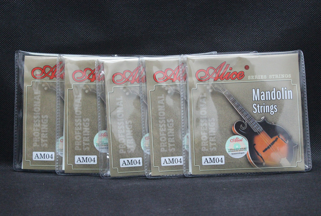 5 Sets Alice AM04 Plated Steel Coated Copper Alloy Wound Mandolin Strings Light (.010 .014 .024 .034)