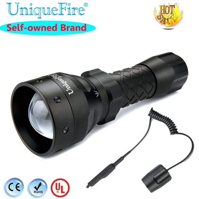 Hot Selling High-Quality Led Flashlight Torch UF-1407 XRE 300LM Power Green / Red /White LED Lantern+Remote Pressure For Control