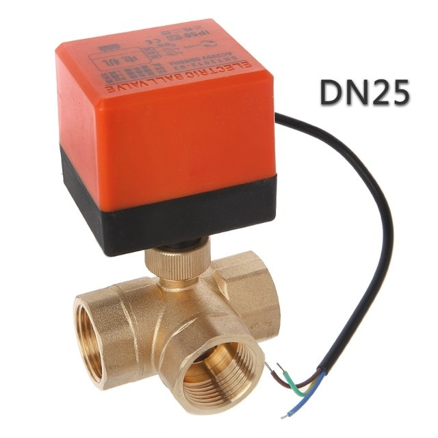 DN15/20/25 3 way motorized ball valve electric Three line two way control AC 220V LS'D Tool