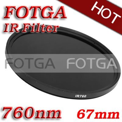 FOTGA Infrared Infra-red IR Filter 67mm 760nm Pass X-Ray IR Filter 67mm-760nm for Canon Sony Nikon Cameras