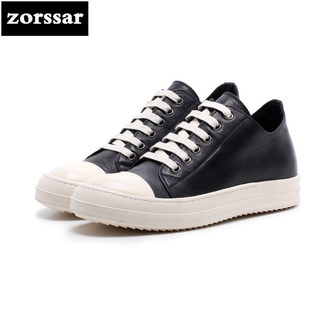 {Zorssar} 2018 New Fashion Genuine Leather Leisure lace up flat shoes Women sneakers Casual Comfortable Flats Loafers Female