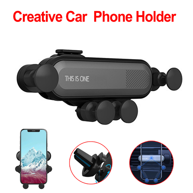 New Style Universal Car Phone Holder GPS Stand Gravity Stand For Phone Car Holder No Magnetic For iPhone Xiaomi Huawei
