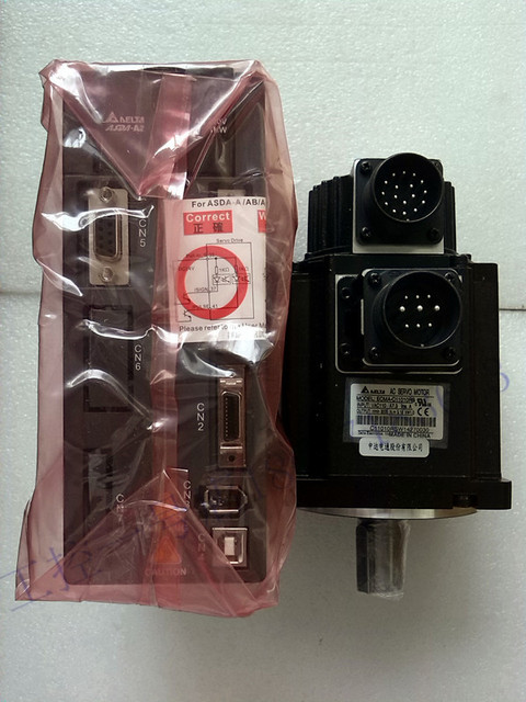ECMA-C10807SS+ASD-A2-0721-L Delta 220V 750W 2.39NM 3000r/min 80mm brake AC Servo Motor Drive kits with 3M cable