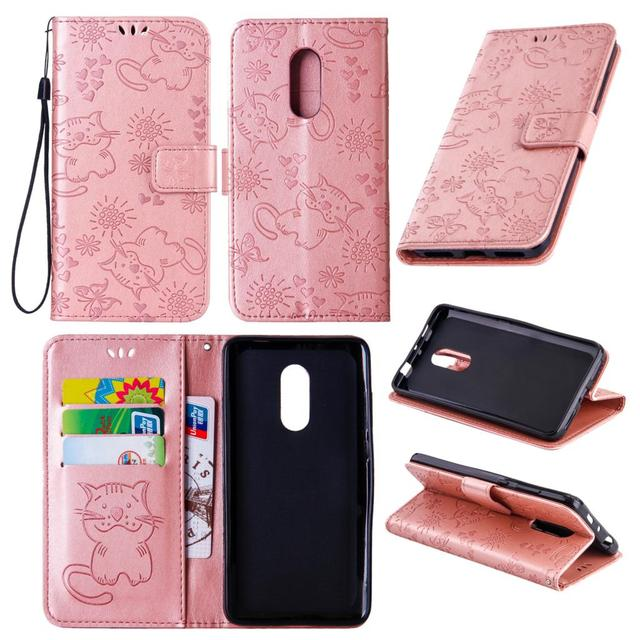 Embossed wallet Case For Xiaomi Redmi Note 5 Cover Magnetic Flip Card Slots Mobile Phone Cases For Xiaomi Redmi Note 5 Shell