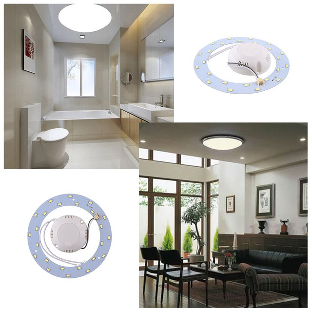 12W 24 SMD LED Panel Circle Annular Home Practical Ceiling Light Pure White