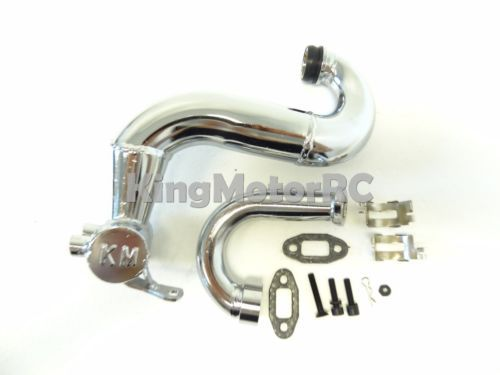 New King Motor Steel THOR Tuned Pipe Fits 1/5 Scale HPI Baja 5B SS 5T 2.0 Rovan free shipping