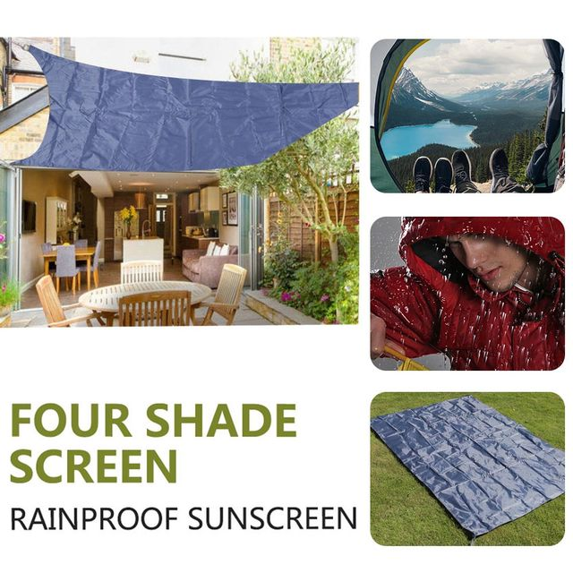 Camping Canopy Shade Canopy Gazebo Durable Oxford Cloth Grey Moisture Proof Camping Cloth Travel Shade Sail Shelter