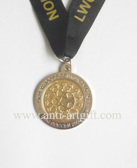 Custom Sport gold silver medal double plate high quality