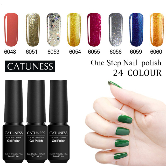 CATUNESS One Step Popular UV Nail Gel Soak Off Lucky Varnish Semi Permanent LED  Hybrid Lacquer Manicure Decoration