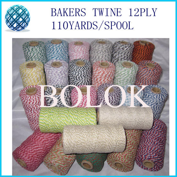 55 kinds color 55pcs/lot Cotton Baker twine 110yards/spool divine twine, for gift packing
