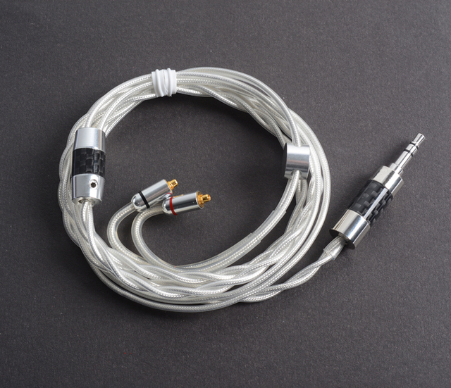 Hand Made DIY Earphone Upgrade Cable 7N 8 Cores MMCX Hifi Single Crystal Silver Plated Cord for Shure SE846 SE535 SE215 UE900 LA