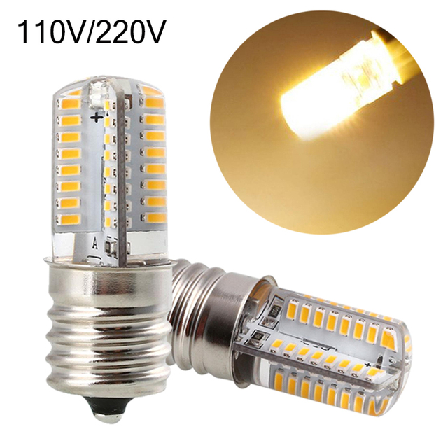 E17 110/220V Corn SMD LED Silica Gel Bulb Lamp Home Bedroom Silicon Light