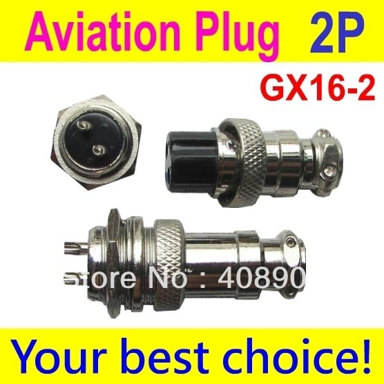 5 set Aviation Plug Male&Female Wire Panel Power Chassis Metal Connector 16mm  GX16  2/3/4/5/6/7/8/9/10 -Pin