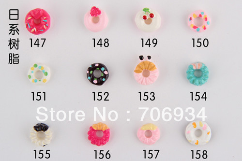 Nail Accessories 3d Resin Cake 100pcs/lot Mix Fashion Nail Art Decorations Shop Flat back Diy Resin The Adornment For Nail