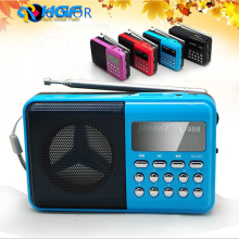 2014 new electronic wholesale L-988 portable mini speaker with FM radio MP3 player support TF/USB