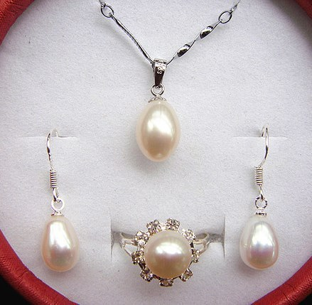 Fashion Real Freshwater Pearl Jewelry Set, Bridal Jewellery Set, Exquisite Bridal Wedding Jewelry Set Accessory