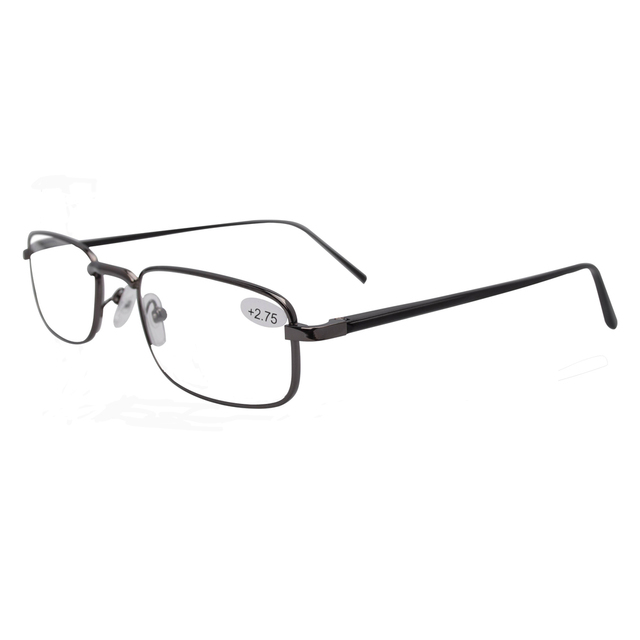 FR004 Eyekepper Black Aluminum Arms Spring Hinged Reading Glasses Including Case and Cord  +1.0/1.25