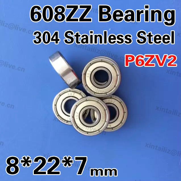 [SS608ZZ-304]best quality 304 stainless steel bearing 8mm*22mm*7mm high precision dental bearing