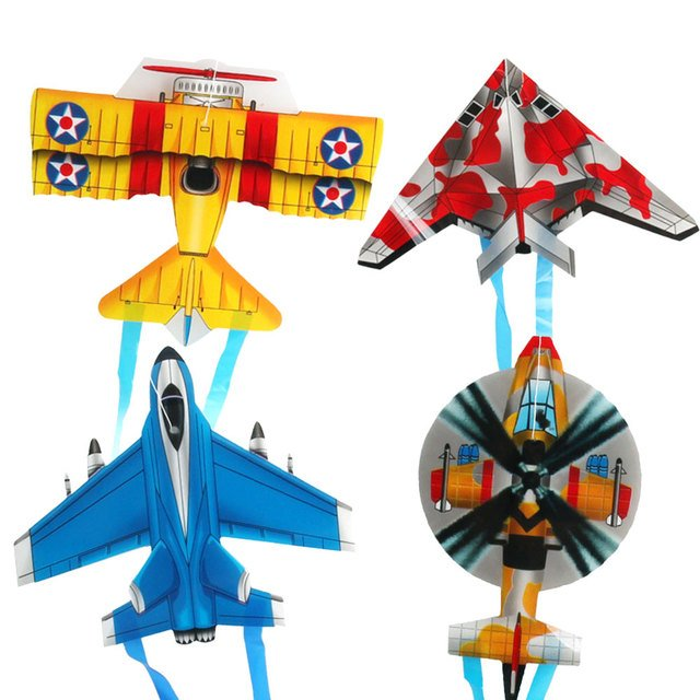 2019 Convenient Aircraft Kite Plastic Exercise Kids Kite for Toys Drop Shipping