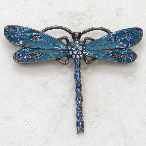 12pcs/lot Wholesale Fashion Brooch Rhinestone Enameling Dragonfly Pin brooches in 11 colors C101369