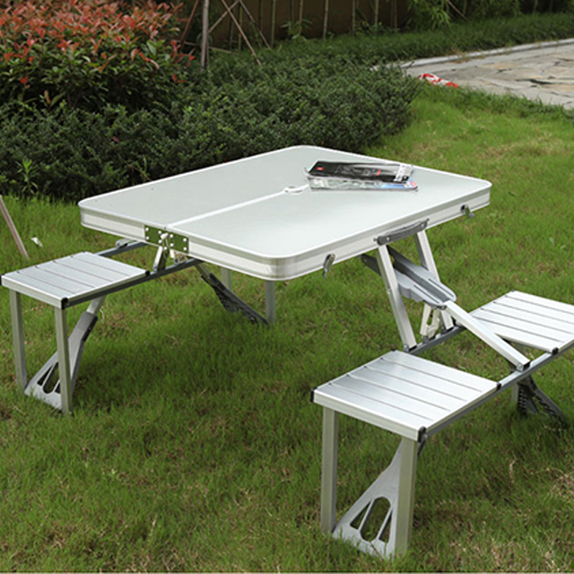 Portable Folding Table And Chair Outdoor Picnic Foldable Aluminum Alloy Desk Chairs
