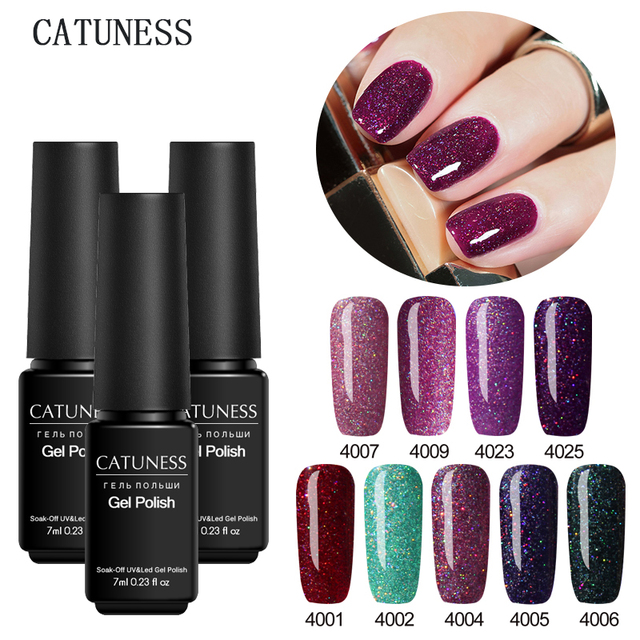CATUNESS Neon Gel Paint Gel Nail Polish Semi-permanent Colorful Nail Gel Polish for Nail Soak Off Lucky UV Manicure Gel Varnish